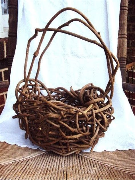 Handmade Willow Baskets - vintage willow basket handmade basketweave inspiration