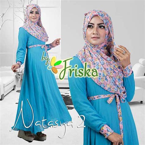 Busana Pesta Muslim Grosir Ammore Dress Furing natasya 2 by friska blue baju muslim gamis modern