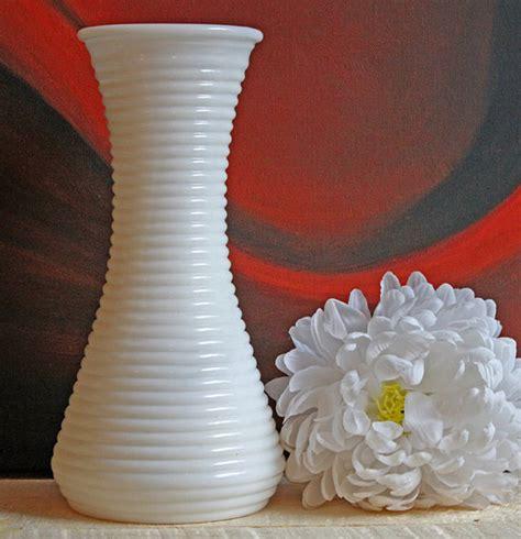 vase milk glass vase with horizontal ribs design