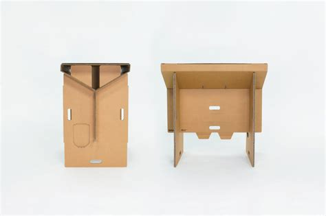 Cardboard Desk by Refold Cardboard Standing Desk Changes The Way You Work