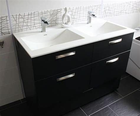 meuble double vasque  coiffeuse sur mesure en noir  blanc atlantic bain