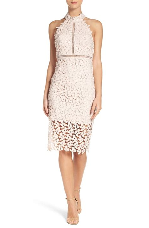 Halter Lace Sheath Dress lace sheath dresses on trend for wedding guest season