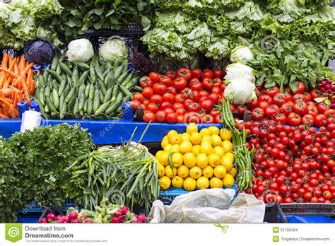 sale of fresh vegetables on shelf stock photo image