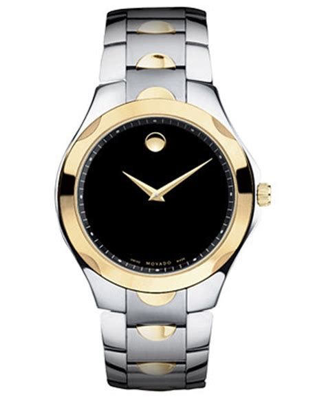 movado s swiss luno sport two tone stainless steel