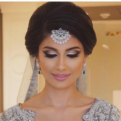 Indian Wedding Hairstyles With Veil by Classic Indian Bridal Updo