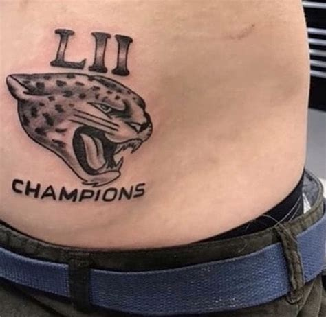 jags tattoo second jacksonville jaguars fan gets bowl lii