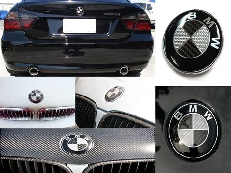 carbon fiber bmw emblem bmw real carbon fiber trunk emblems and wheel center