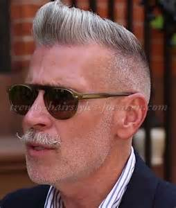 mens 50 plus hair style hairstyles for men over 50 nick wooster pompadour