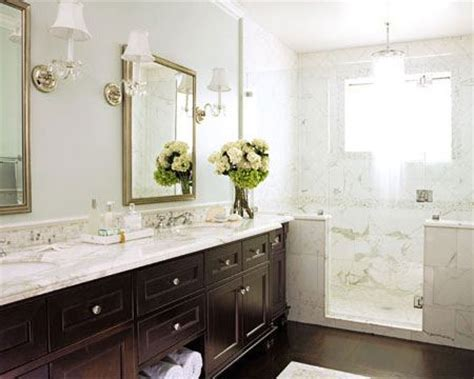 house beautiful bathrooms calcutta marble transitional bathroom house beautiful