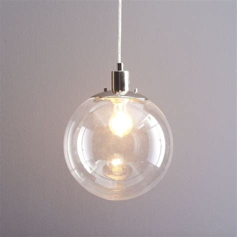 Clear Glass Globe Pendant Light Clear Glass Pendant Light Shades Roselawnlutheran