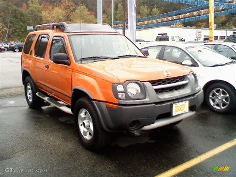 2003 atomic orange nissan xterra xe v6 4x4 38076058 photo 2 gtcarlot car color galleries