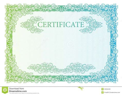 template certificate currency and diplomas stock photos