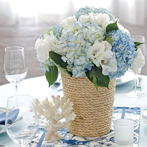 diy rope wrapped centerpiece bridalguide