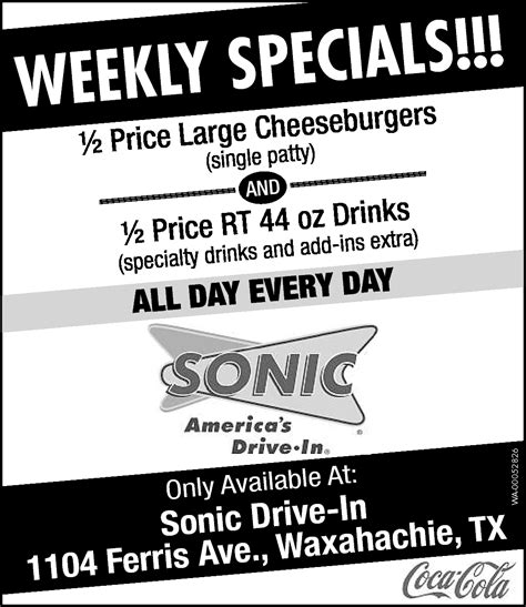 s day drive in sonic drive in in waxahachie tx 75165 972 937 6121