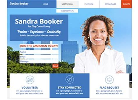 Caign Site Website Template Wix Election Website Templates Free