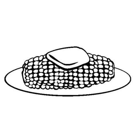 free corn on cob coloring pages