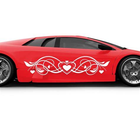 Auto Herz by 2x Autoaufkleber Herz Blumenranke Auto Liebe