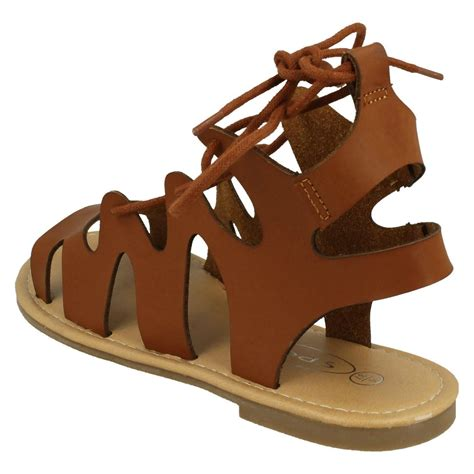 sandals that lace up the leg spot on lace up leg flat gladiator sandals ebay