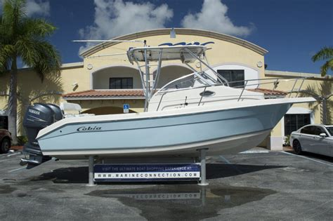 used cobia walkaround boats for sale used 2006 cobia 250 walk around boat for sale in west palm