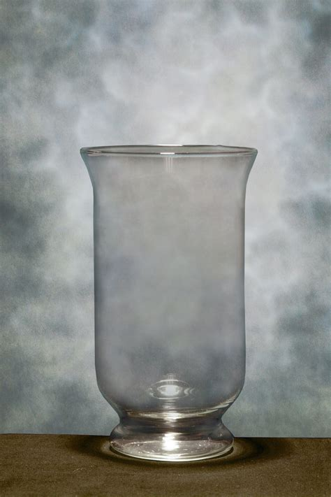 hurricane glass vase 12in glass hurricane vases