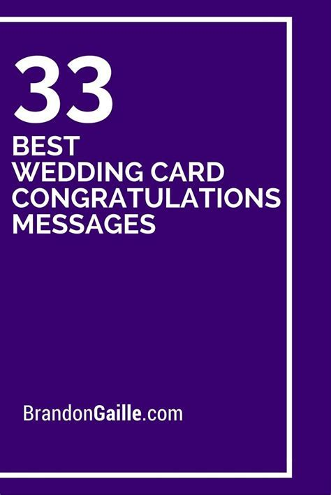 33 Best Wedding Card Congratulations Messages   Wedding