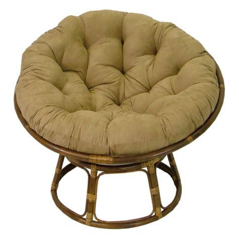 international caravan papasan chair  solid micro suede cushion