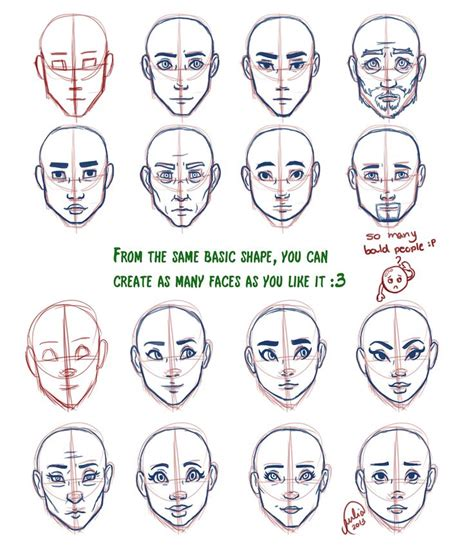 pattern on how to sketch face juliajm face shape tutorial drawing pinterest