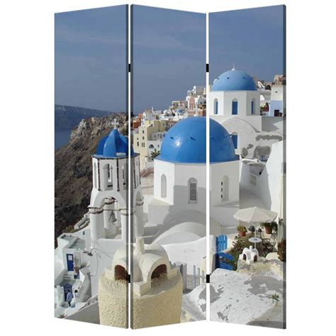 greece 6 ft multi color 3 panel room divider sg 150 the