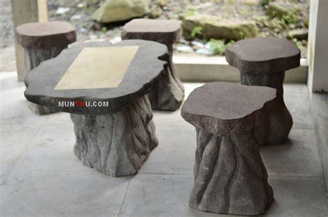 Meja Batu meja kursi batu candi alam ornamen munthu