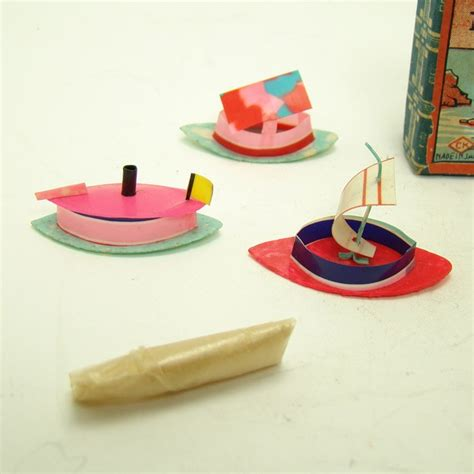 toy boat magic celluloid magic boats toy set with box and instructions