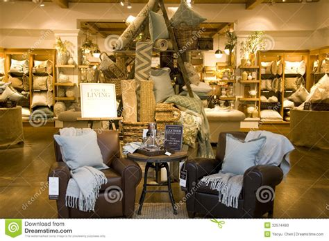home interior shops furniture home decor store editorial stock photo image