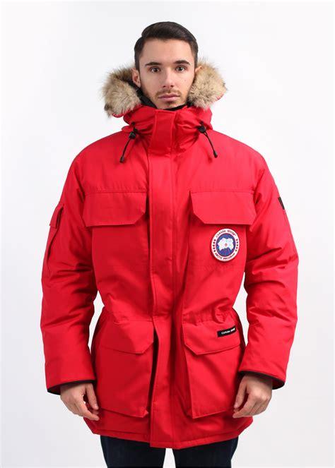 Denim Barn Jacket Canada Goose Expedition Parka Red