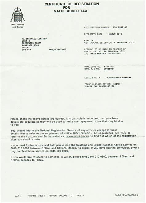 Introduction Letter For Vat Registration Introduction Pack Instalec