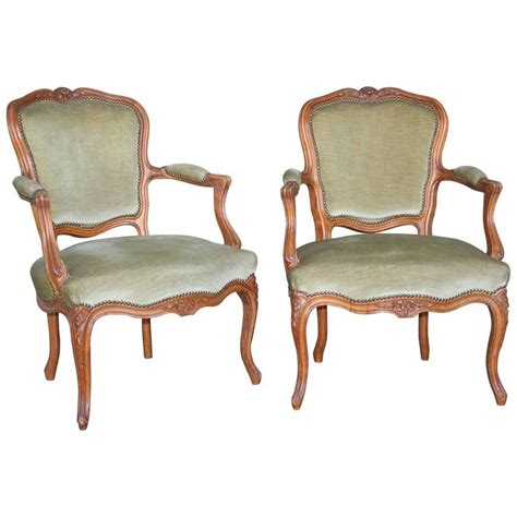Louis Xv Armchairs by Pair Of Louis Xv Style Armchairs For Sale At 1stdibs