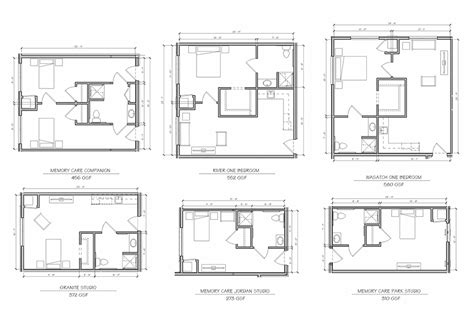 Apartment Marketing Plans Floor Plans Riverway Assisted Living