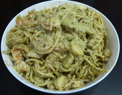 shrimp pasta recipes creamy pesto pasta with shrimp recipe hindi ako si kat