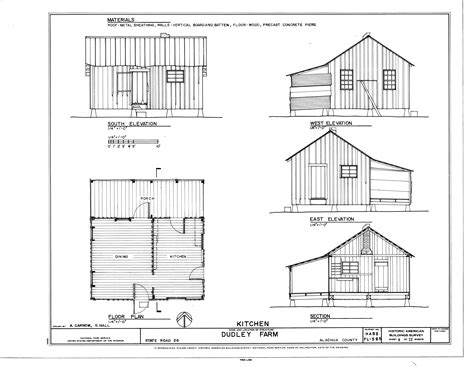 file kitchen elevations floor plan and section dudley farm farmhouse and outbuildings