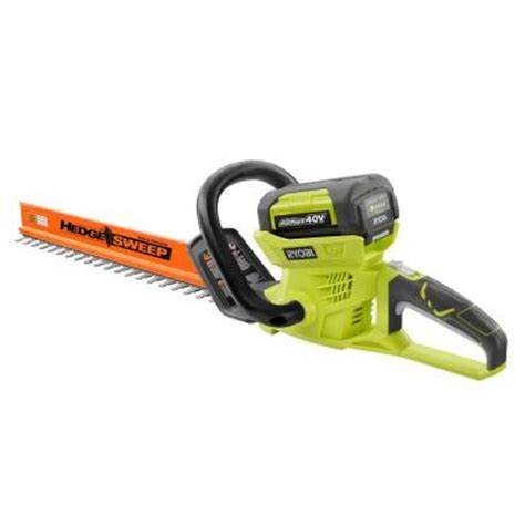 ryobi 24 in 40 volt lithium ion cordless hedge trimmer