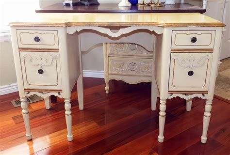 vintage and gold vanity desk by forgetmenotscottage
