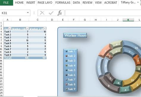 Home Drawing Software 21st century donut chart template for excel