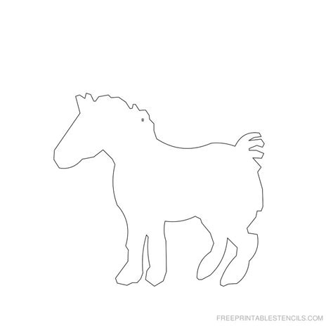 Printable Stencils Of Horses | printable horse stencils free printable stencils