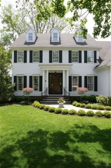 Dormers On Colonial House White Colonial With 3 Dormers And Flat Portico With