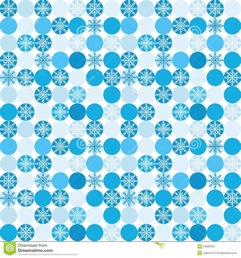 seamless background  snowflakes  circles stock vector image