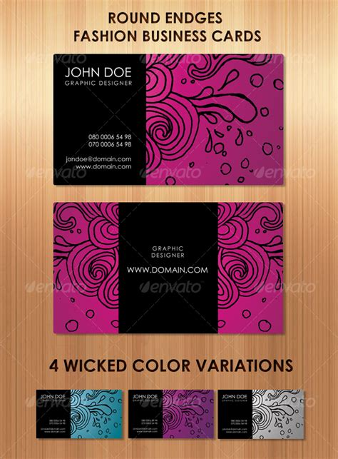stunning fashion business cards in 4 colors graphicriver