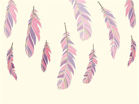 Colour Feathers PPT Backgrounds   Brown, Design, Pattern