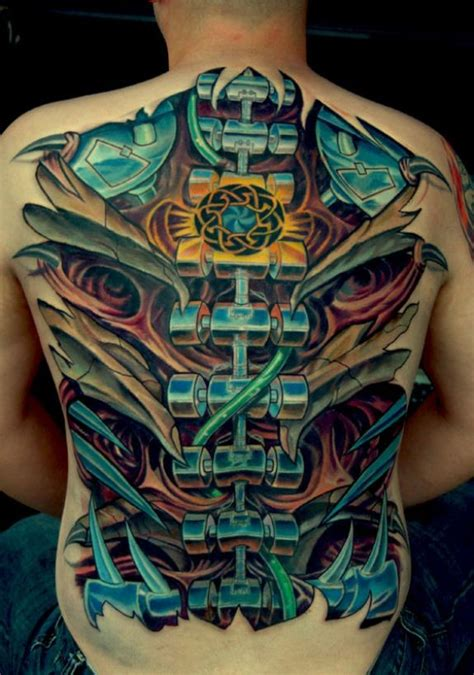 tattoo biomechanical back big biomechanical tattoo on back tattooimages biz