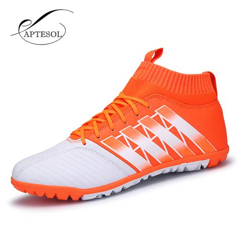 high top football shoes aptesol brand high ankle football shoes for mens tf