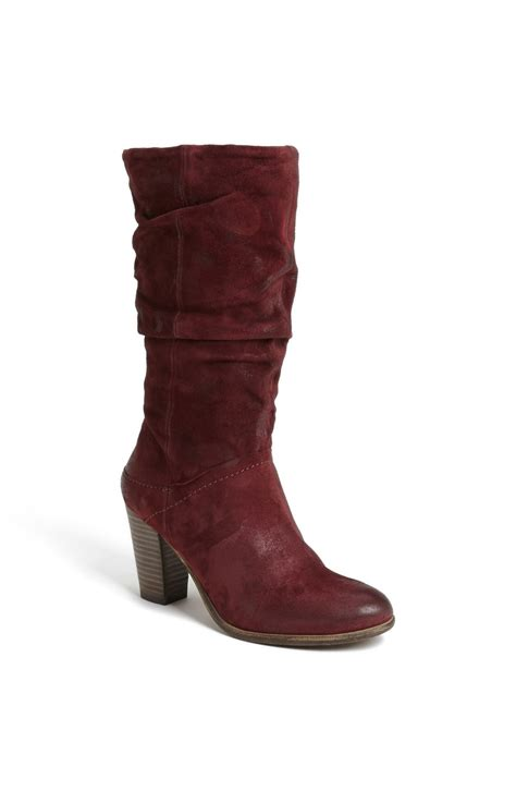steve madden lorreta boot in brown burgundy suede lyst