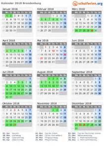 Kalender 2018 Mit Feiertagen Kalender 2018 Ferien Brandenburg Feiertage