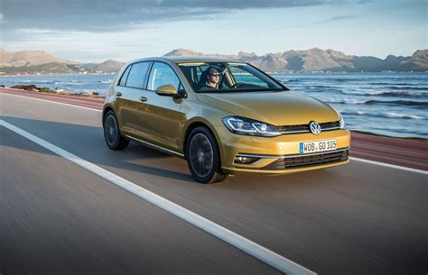 volkswagen gold vw golf by car magazine